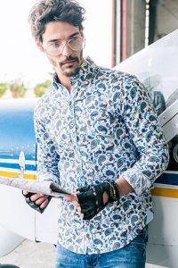 Camisa cachemir hombre