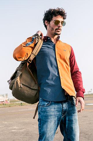 Camisa multicolor hombre